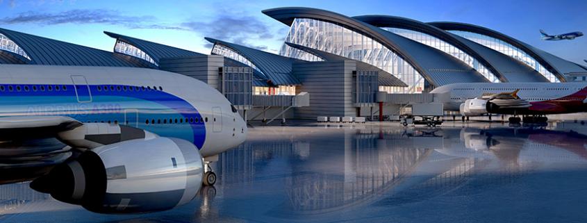 """""""El Aropuerto del Futuro"""" es una de las muestras temporalis recientemente exhibidas en el Centro A+D de los Ángeleshttp://aplusd.org/portfolio/airport-future/"""